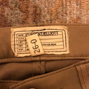 Tan leather current elliott pants size 26